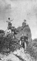Image of Raising a Flag on Mt. Tamalpais, 1890                                                                                                                                                                                                                          - Print, Photographic