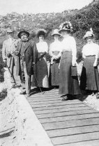Image of Edna Behrens and tourists on Mt. Tamalpais, circa 1910                                                                                                                                                                                                         - Print, Photographic