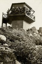 Image of Fire lookout at Mt. Tamalpais, 1922                                                                                                                                                                                                                        - Print, Photographic