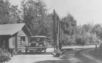 Image of Toll gate on Mt. Tamalpais, date unknown                                                                                                                                                                                                                       - Print, Photographic