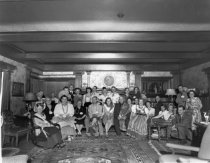 Image of Group photo at party at El Paseo's owners house, 1947                                                                                                                                                                                                          - Print, Photographic