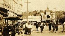 Image of Miller Avenue looking toward Throckmorton, circa 1918                                                                                                                                                                                                          - Print, Photographic