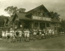 Image of Hikers Retreat on Throckmorton, early 1920                                                                                                                                                                                                                     - Print, Photographic