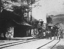 Image of First train into Mill Valley, circa 1890