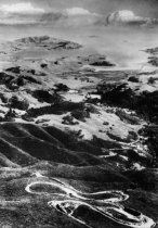 Image of The double bow knot aerial view of Mt Tamalpais and the railroad, date unknown                                                                                                                                                                                 - Print, Photographic