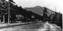 Image of Railroad Tracks running along what is now Miller Avenue, circa 1901                                                                                                                                                                                    - Print, Photographic