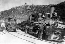 Image of Trains at the summit of Mount Tamalpais, 1907                                                                                                                                                                                                              - Print, Photographic