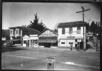 Image of Corner of Throckmorton Avenue and Bernard, circa 1930s                                                                                                                                                                                                         - Print, Photographic