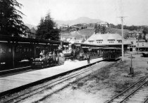 Image of Mt. Tam & Muir Woods Railway in Mill Valley, date unknown                                                                                                                                                                                                      - Print, Photographic
