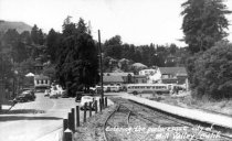 Image of Railroad tracks entering Mill Valley, 1940s                                                                                                                                                                                                        - Print, Photographic