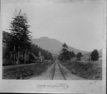 Image of Railroad tracks along Miller Ave., circa 1890                                                                                                                                                                                                                  - Print, Photographic