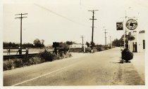 Image of Miller Avenue at La Goma Street, 1940s                                                                                                                                                                                                                     - Print, Photographic