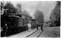 "Image of North Pacific Coast Railroad Engine #8, ""Bully Boy"" circa 1898                                                                                                                                                                                                 - Print, Photographic"