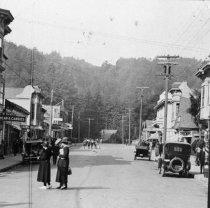 Image of Corner of Throckmorton and Miller, circa 1915-1920                                                                                                                                                                                                             - Print, Photographic