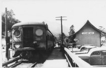 Image of Northwestern Pacific train at Locust Station, 1935                                                                                                                                                                                                        - Print, Photographic