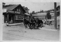 Image of Roadwork at Madrona and Throckmorton Avenue, date unknown                                                                                                                                                                                                      - Print, Photographic