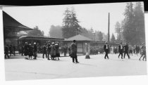 Image of Mill Valley's Bustling 3rd Train Station, circa 1925                                                                                                                                                                                                           - Print, Photographic