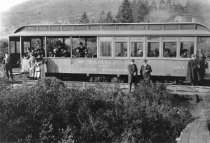Image of Mt. Tamalpais & Muir Woods Railway Coach, circa 1915                                                                                                                                                                                                           - Print, Photographic