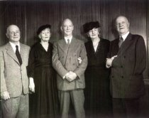 Image of Kathleen Thompson Norris with group, date unknown                                                                                                                                                                                                          - Print, Photographic