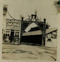 Image of Lytton Square train archway, May 1901                                                                                                                                                                                                                          - Print, Photographic