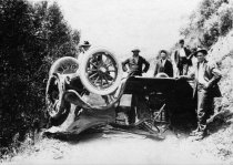 Image of Congressman William Kent's party, car accident, circa 1910                                                                                                                                                                                                     - Print, Photographic