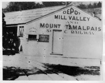 Image of  Mill Valley & Mt. Tamalpais Scenic Railway near Throckmorton Ave., circa 1896                                                                                                                                                                                 - Print, Photographic