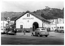 Image of Greyhound bus terminal, circa 1940                                                                                                                                                                                                                             - Print, Photographic