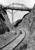 Image of Mt. Tam and Muir Woods Railroad Hiker's Bridge, 1910                                                                                                                                                                                                           - Print, Photographic