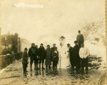 Image of Train passengers at the Tavern of Tamalpais, 1922                                                                                                                                                                                                              - Print, Photographic