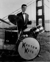 Image of Walt Lennon of the Kustom Keys, a local rock group, 1950s                                                                                                                                                                                                 - Print, Photographic