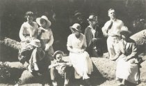 Image of Group, including Karin Lundquist Connelly, Frank Connelly, and Alfhild Lundquist Clark, among others, date unknown                                                                                                                        - Print, Photographic