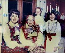 """Image of Valborg """"Mama"""" Gravander and three girls, 1964                                                                                                                                                                                            - Print, Photographic"""
