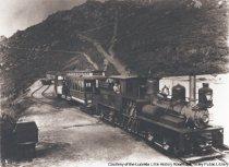 Image of Train at summit of Mount Tamalpais, circa 1896                                                                                                                                                                                                                 - Print, Photographic
