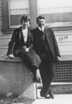 Image of C. Russell Symes & Emma Lackewandt Symes, 1922                                                                                                                                                                                                                 - Print, Photographic