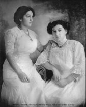 Image of Mathilda and Freida Mannheimer, date unknown - Print, Photographic