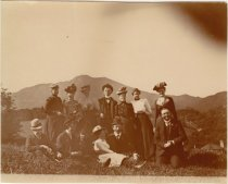 Image of Unidentified group in front of Mount Tamalpais, circa 1890                                                                                                                                                                                               - Print, Photographic