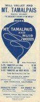 Image of Mill Valley and Mt. Tamalpais Scenic Railway advertisement brochure, circa 1913 - Ephemera