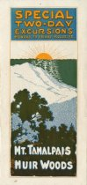 Image of Mount Tamalpais and Muir Woods Special Two-Day Excursions brochure, circa 1918 - Ephemera