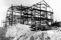 Image of 2  El Capitan - Steel frame during construction, 1913                                                                                                                                                                                                     - Print, Photographic