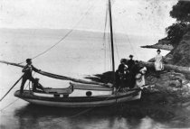 Image of Lundquist family sailboat, circa 1888                                                                                                                                                                                                                      - Print, Photographic