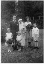Image of 160 Miller Avenue, wedding of Grace Finn, 1925 - Print, Photographic
