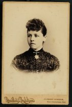 Image of Clotilde Reed, circa 1887                                                                                                                                                                                                                                      - Print, Photographic