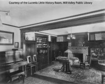 Image of 41 Buena Vista Avenue living room, date unknown                                                                                                                                                                                                            - Print, Photographic