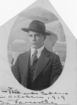 Image of Lance Robinson in Newcastle, 1919