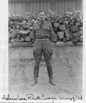 Image of Lance Robinson at Schreibers Flat Camp, 1934 - Print, Photographic