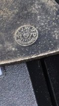 Image of Mill Valley Special Police badge, 1920s, closeup of stamp