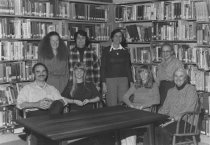 Image of Library staff, 1980                                                                                                                                                                                                                                        - Print, Photographic