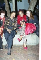Image of Zoë Elton with partygoers at the Mill Valley Film Festival Opening Night Gala, 2000                                                                                                                                                     - Print, Photographic