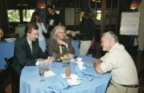 Image of Bill Robinson and guests at the Filmmakers Brunch at the Mill Valley Film Festival, 2000                                                                                                                                                                   - Print, Photographic