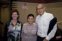 """Image of Zoe Elton, Cecilia Chiang, and Wayne Wang at a screening of """"Soul of a Banquet,"""" 2014                                                                                                                                                              - Image, Digital"""